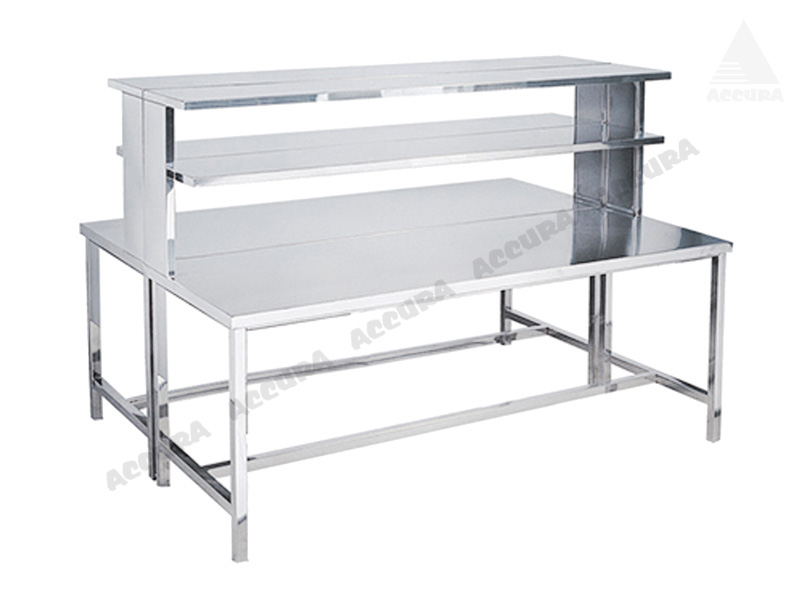 WORKING TABLE FOR LAB - FULLY STAINLESS STEEL 3